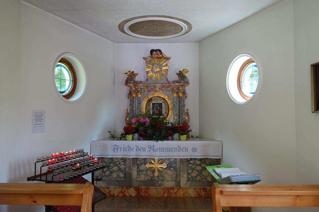 Die renovierte Kapelle am Plansee