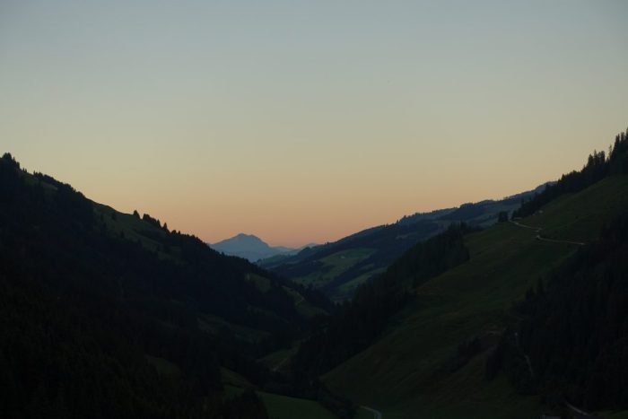 Tirol Sonnenuntergang Spertental