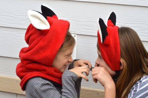 Animal Hoodie Sewing Pattern and Free Fox Ears Sewing Pattern