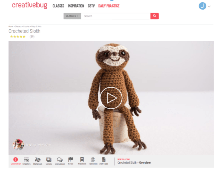 Creativebug Sloth