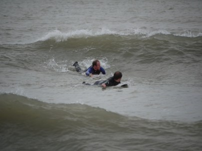 some pro surfers in action