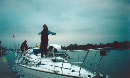 Maggie and broken mast