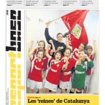 La imagen y la noticia del logro del Lleida.net Alpicat Hockey en el diario Segre. Sábado, 11 de mayo de 2013