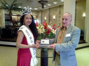 Mr. Giacomo Avondo of Sirex Consortium and country manager of Lleida.net South Africa and Miss Deaf Africa 2013