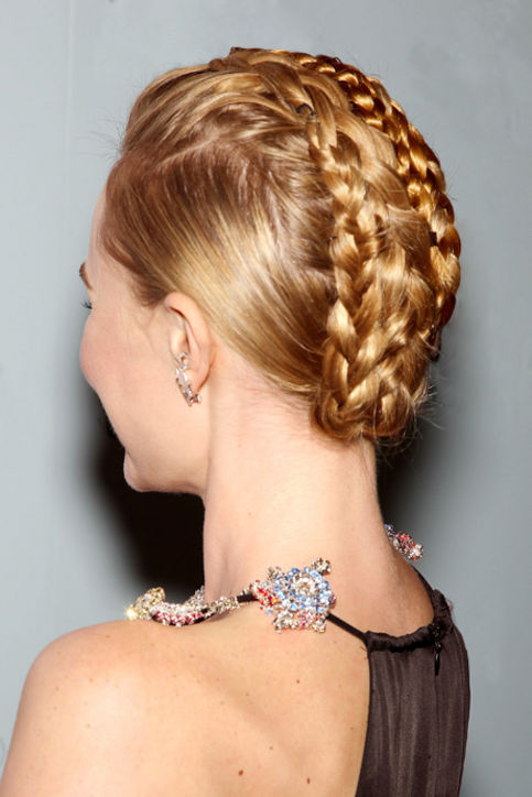 21. Braided Updos A mohawk braid adds a punky edge.