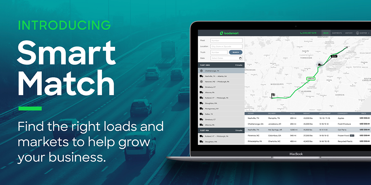 [NEWS] Loadsmart Launches Smart Match Tool to Help Carriers Pair Trucks with Optimal Freight