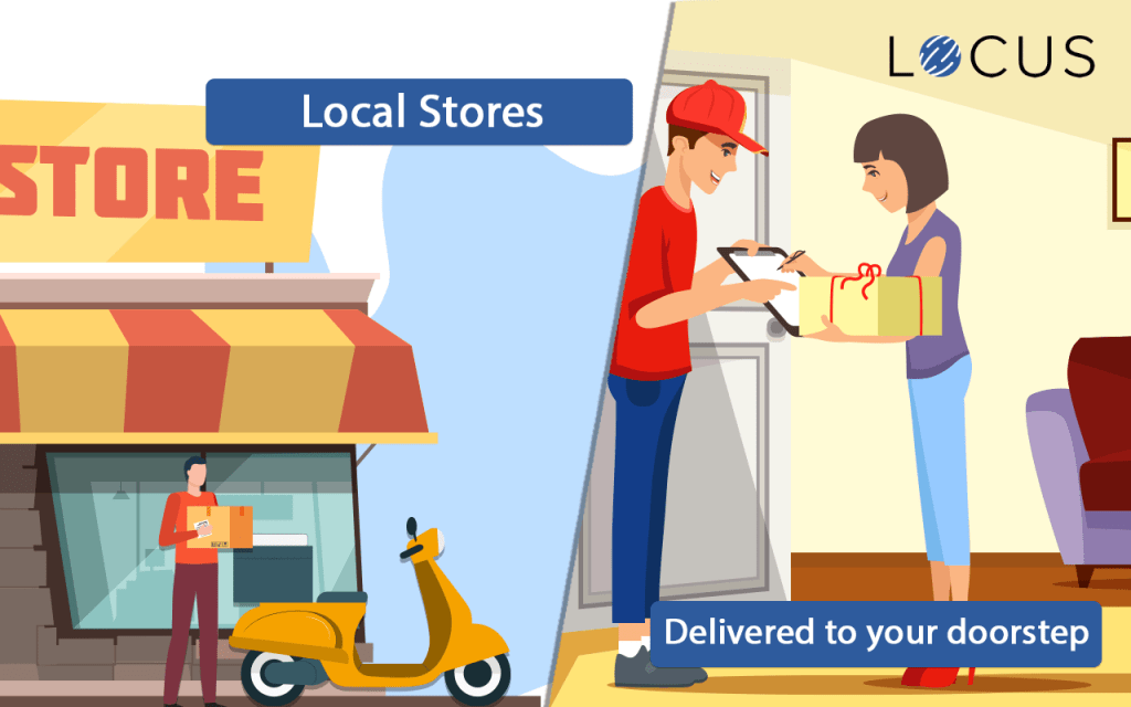 What is a hyperlocal on-demand delivery model?