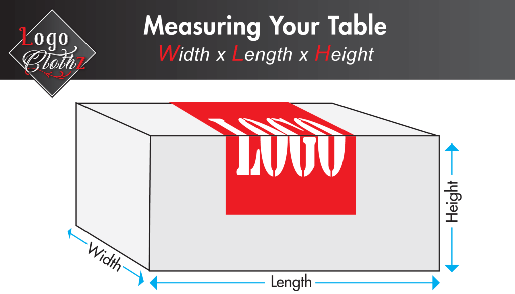 logo placement for printed tablecloth