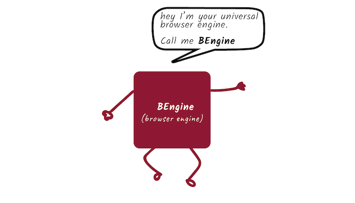 Illustration Of Our Fictional Universal Browser Engine
