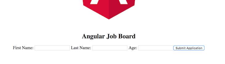 Angular Job Board Form