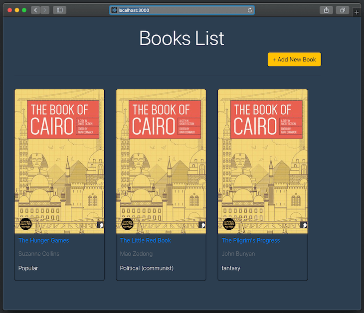 The Books List Page