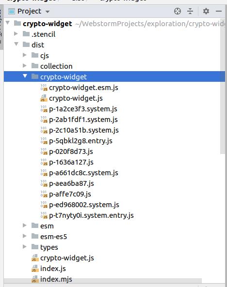 build folder with dist