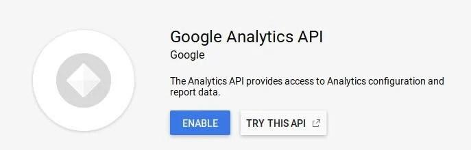 Enabling The Google Analytics API