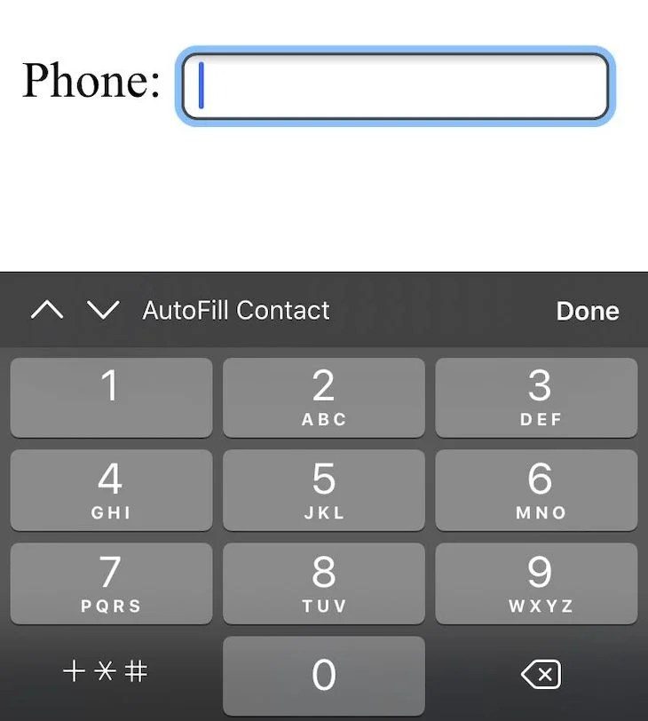Telephone HTML Input Type On Mobile