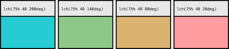 Comparing LCH Lightness Values Across Colors
