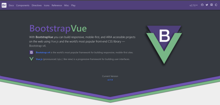 the Bootstrap Vue homepage