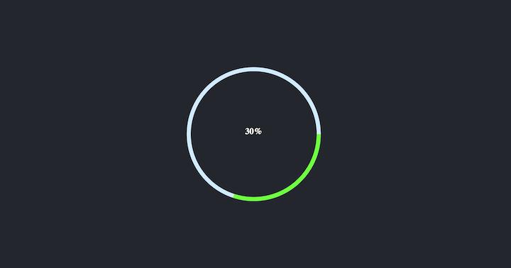 Circular Progress Component Showing 30 Percent Progress