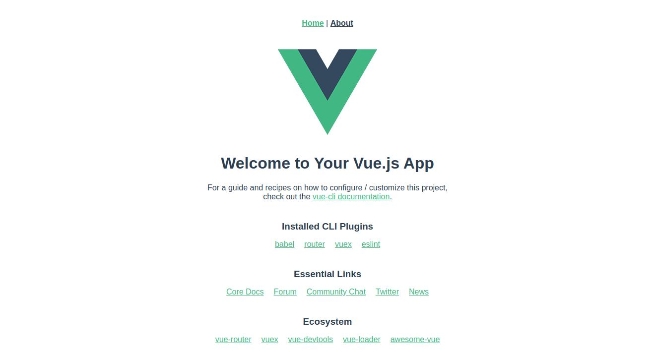 vue running app