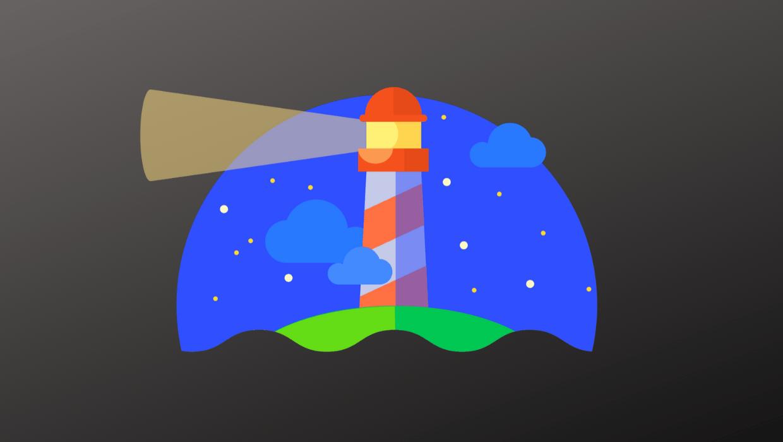 The Google Lighthouse logo.