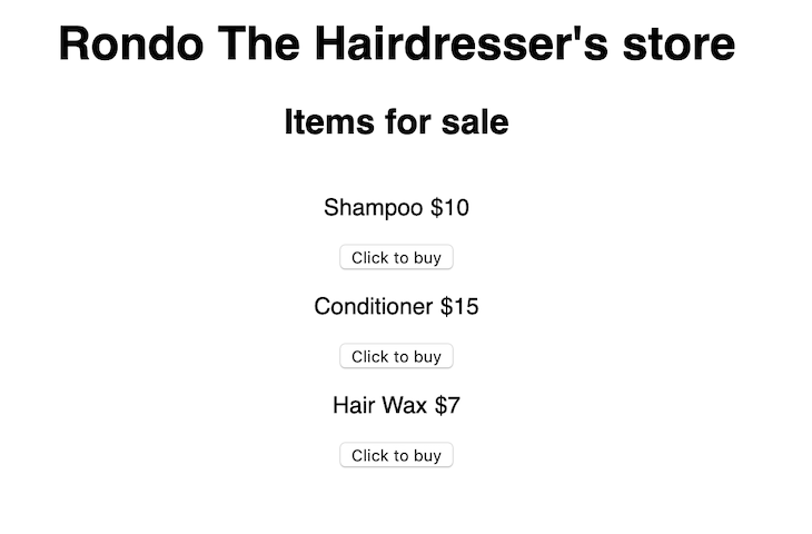Rondo The Hairdresser's Store