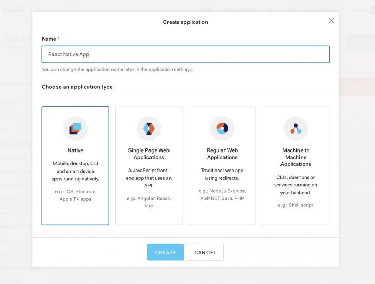 select app type