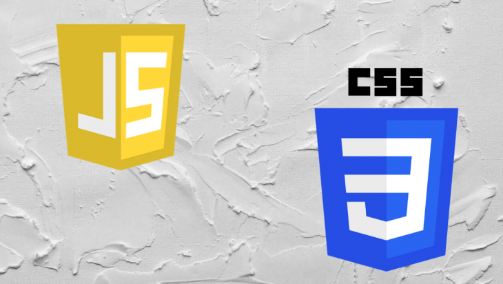 A picture of the JavaScript and CSS logos.