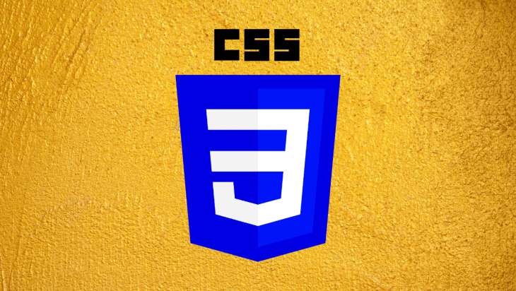 The CSS logo over a yellow background.