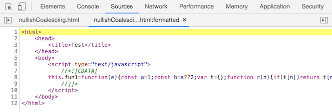 nullish coalescing before Chrome 85