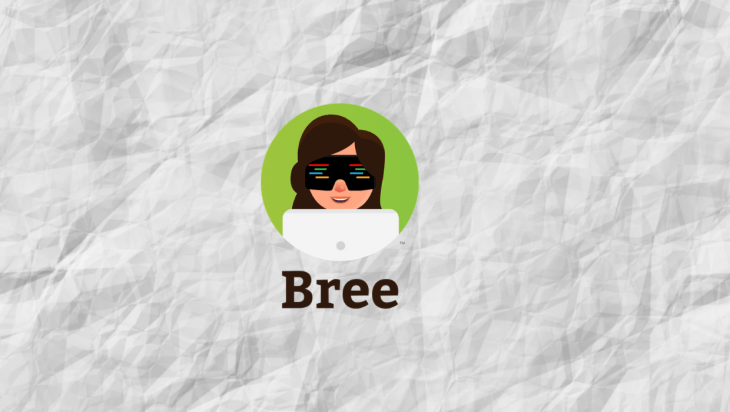 The Bree.js logo over a white background.