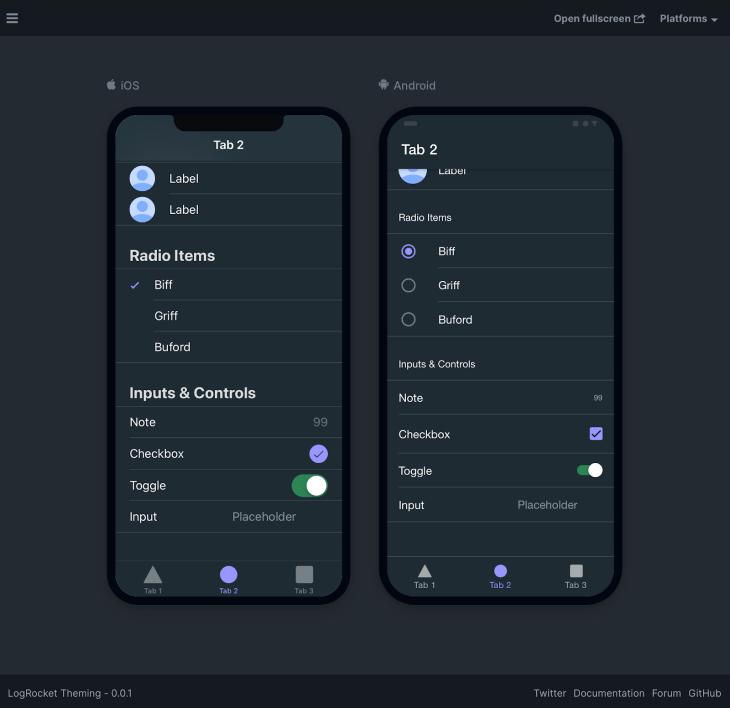 Ionic toggle customization.