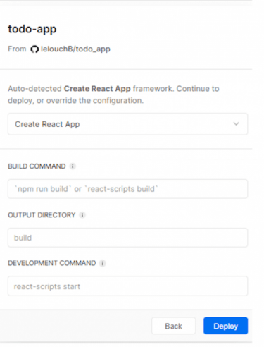 Deploy App in Vercel