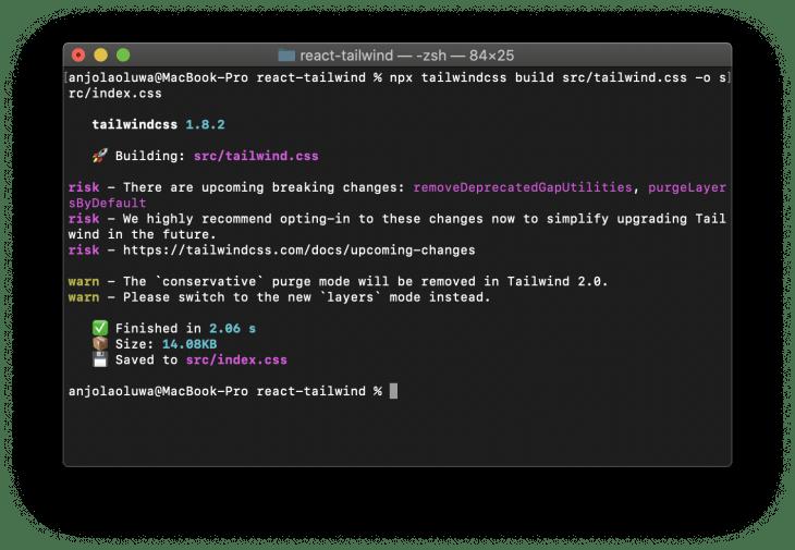 comando npx tailwindcss