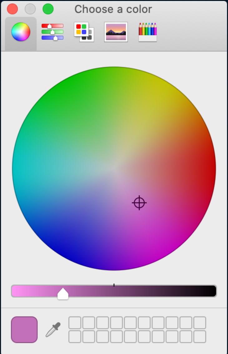 Color picker.