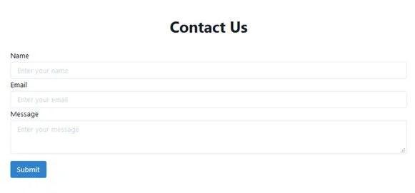 Chakram UI Contact Us Form