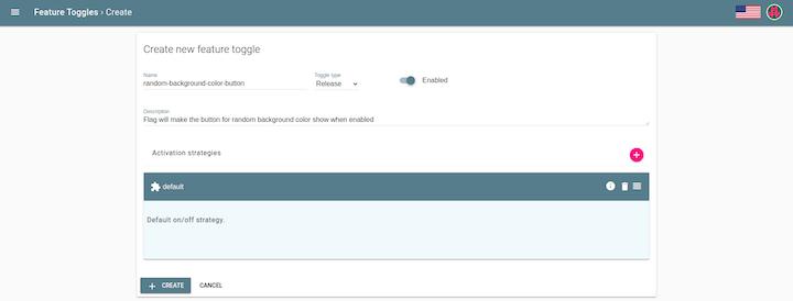 Create New Feature Toggle