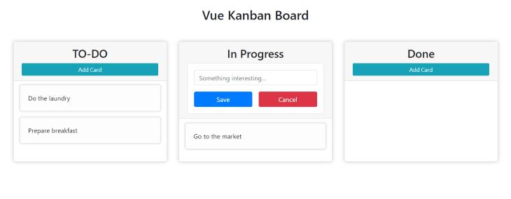 A Built Kanban Board