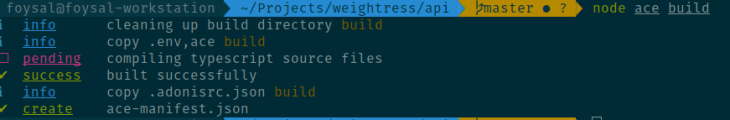 Compiling Our AdonisJS Code to Use Ace
