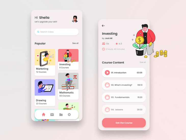 Dribble Design Mobile Template