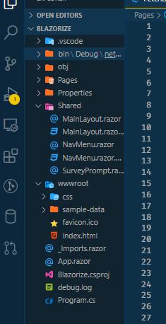 The Blazor Webassembly Folder Structure