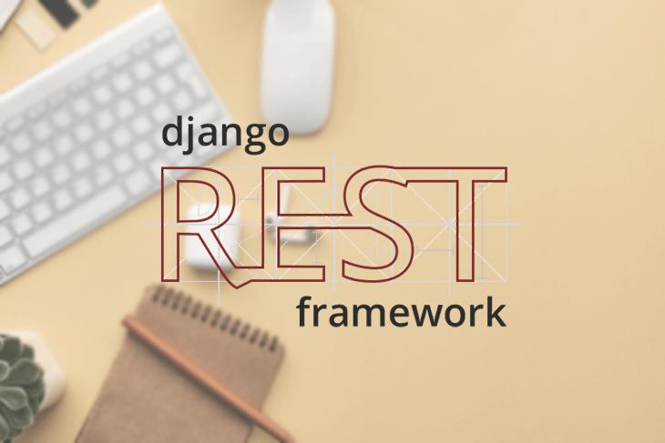Django REST Framework Logo Over a Desk Background