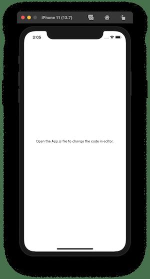 output in iOS simulator