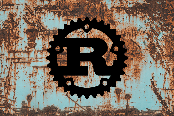Rust Logo Over a Rusty Background