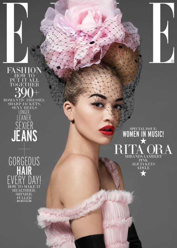 ELLE-WIM-May-Rita-Ora-subcover-1 The May edition of American Elle pays homage to female musicians. The magazine lists stars such as Adele, Alicia Keys (they both have their own covers), P!nk, Rita Ora, Miranda Lambert, Grimes, Haim and Taylor Swift. The amazing photo shoot with Rita Ora caught my eye. I previously associated her with a colourful street style, sometimes flirting with rockabilly. In this shoot, it's all about glamour with a modern, funny flair - but still glamour and couture. The pink Chanel dress blew me away and the bold cover with the hat a la Mickey Mouse's ears by Philip Treacy is just masterful.  Majowy numer amerykańskiej edycji czasopisma ELLE składa hołd kobietom-muzykom. Magazyn wymienia takie gwiazdy jak Adele, Alicia Keys (obie również mają swoje okładki), P!nk, Rita Ora, Miranda Lambert, Grimes, Haim i Taylor Swift. W oko wpadła mi niesamowita sesja zdjęciowa z udziałem Rity. Wcześniej kojarzyłam ją raczej z kolorowym stylem ulicznym, czasami zahaczającym o rockabilly. W tej sesji postawiono na glamour z nowoczesnym, zabawnym zacięciem - ale nadal glamour i krawiectwo najwyższej klasy. Stylizacja z różową suknią Chanel mnie kompletnie zachwyciła, a odważna okładka z kapeluszem a la uszy Myszki Miki Philipa Treacy'ego to po prostu mistrzostwo.  Women in MusicWomen in MusicWomen in MusicWomen in MusicWomen in Music  Photos: Thomas Whiteside Styling: Joe Zee Labels: Chanel, Dior Haute Couture, Valentino Haute Couture, Calvin Klein, Philip Treacy.