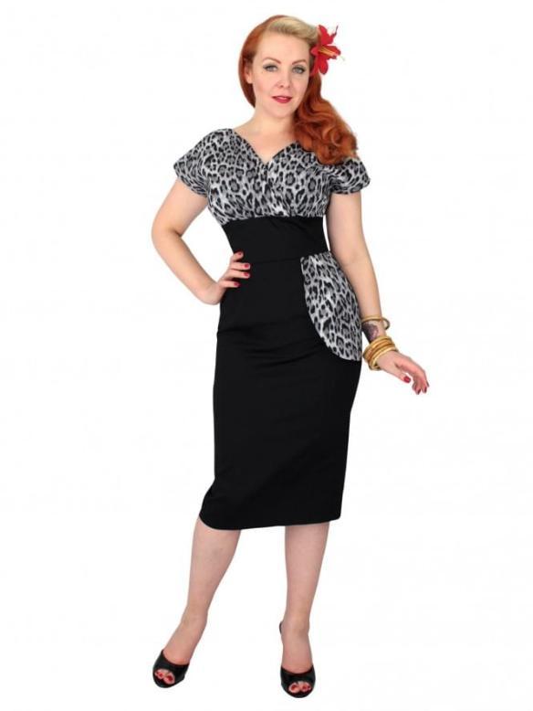silver leopard print dress