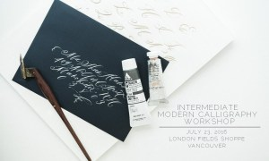 Intermediate Calligraphy Workshop