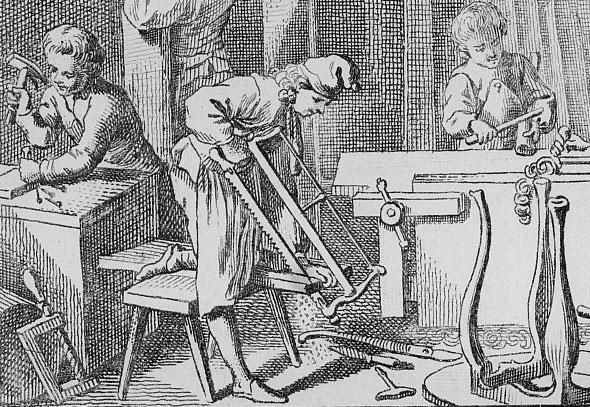 detail_Der-Tischler-mit-seinen-Gesellen,-Stich-1774