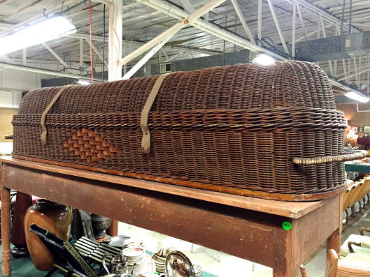 A wicker casket from The Furniture Record.