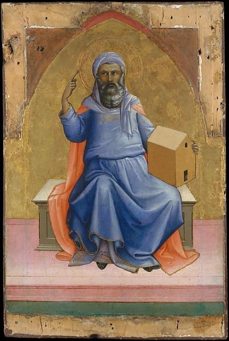 Noah by Lorenzo Monaco, 1408-10, Met Museum.