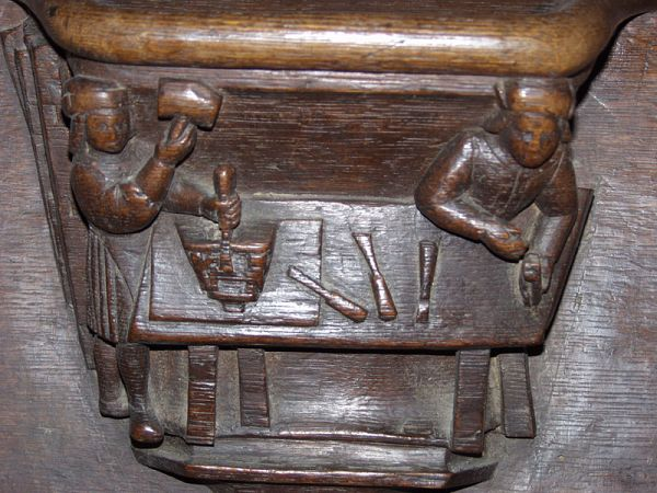 Misericord Workshop, 1413, Church of Notre-Dame des Grands-Andelys, France.