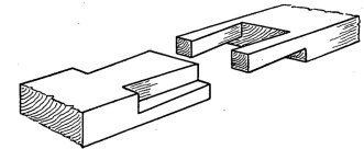 FIG 3. HALVED JOINT WITH DOUBLE DOVETAILS.